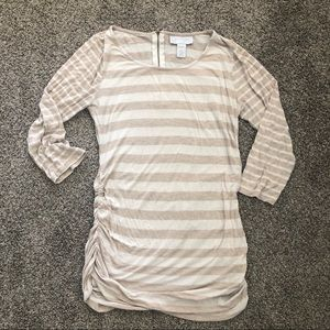 Jessica Simpson maternity striped 3/4 sleeve top